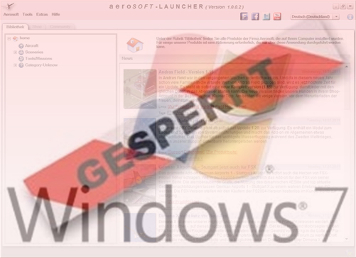 Aerosoft Launcher contra Windows 7