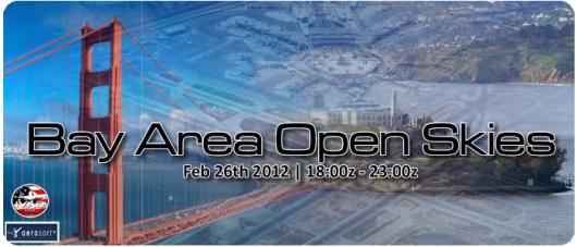 Bay Area Open Skies – IVAO Event angekündigt
