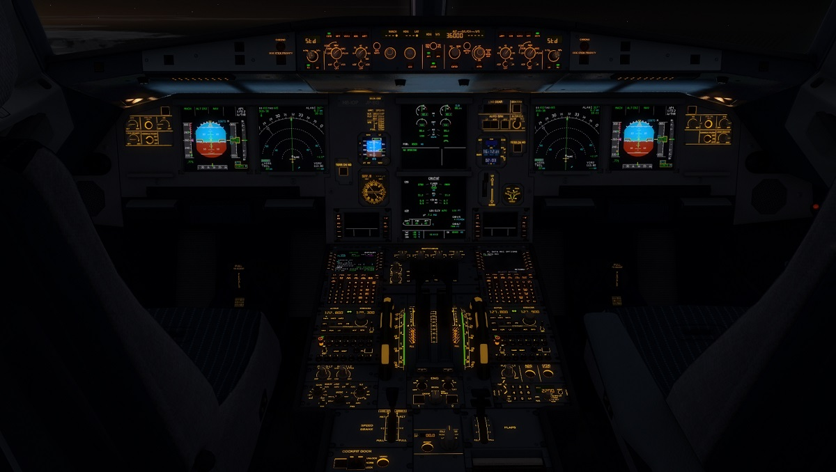 A320 CFM with Emi's ISIS and new Cockpit Lights textures