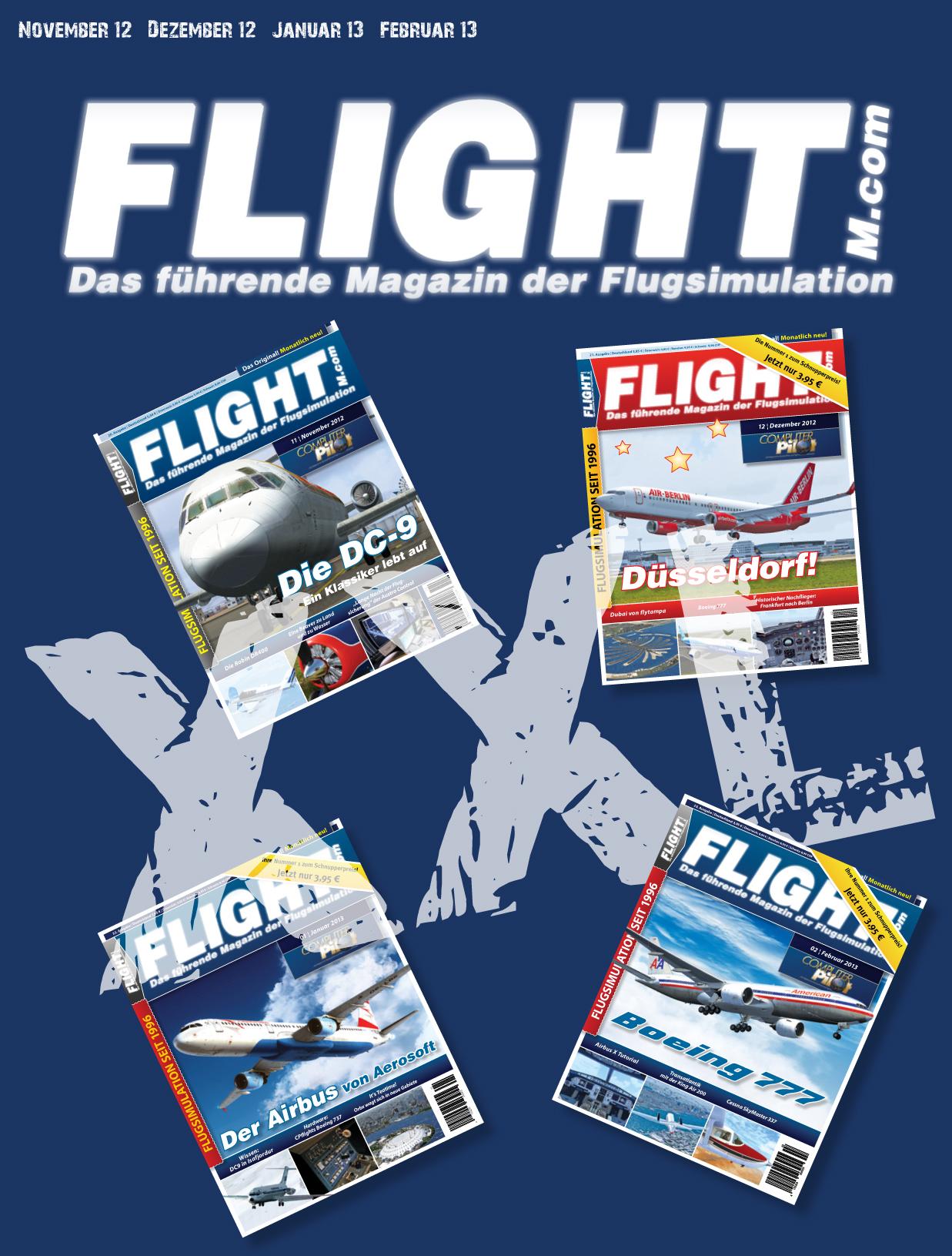 Flight! Magazin XXL Ausgabe -  336 Seiten - Nov12-Feb13